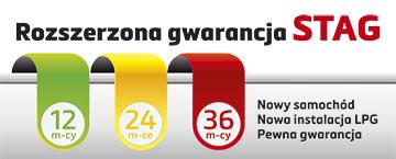 rozszerzona gwarancja STAG 12 24 36 miesięcy dla właścicieli nowych aut na gwarancji producenta